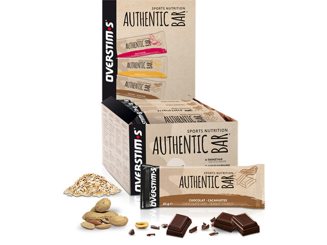 OVERSTIM.s Authentic Riegel Box 30x65g Schokolade Erdnuss